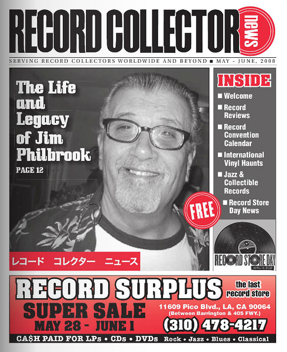 Jim Philbrook Record Collector News May cover