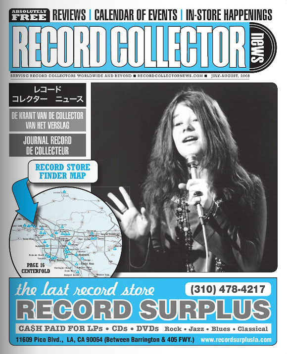Janis Joplin Record Collector News July cover