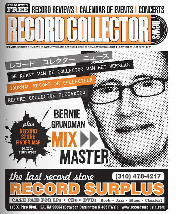 Bernie Grundman Record Collector News September cover