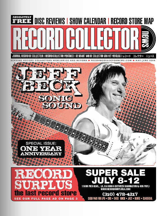 Jeff Beck Record Collector News May cover