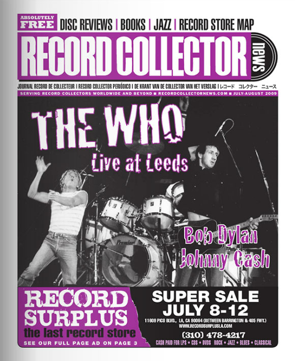 The Who Record Collector News July cover