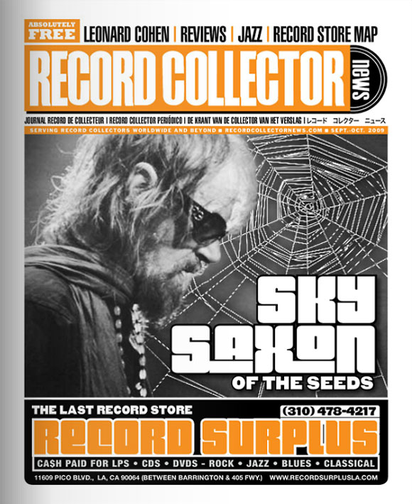Sky Saxon Record Collector News September cover