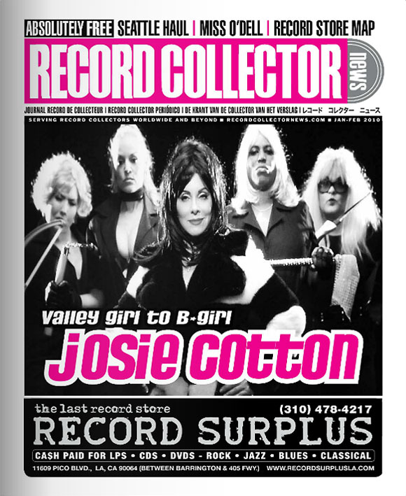 Josie Cotton Record Collector News January cover