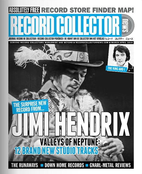 Jimi Hendrix Elvis Presley Record Collector News March cover