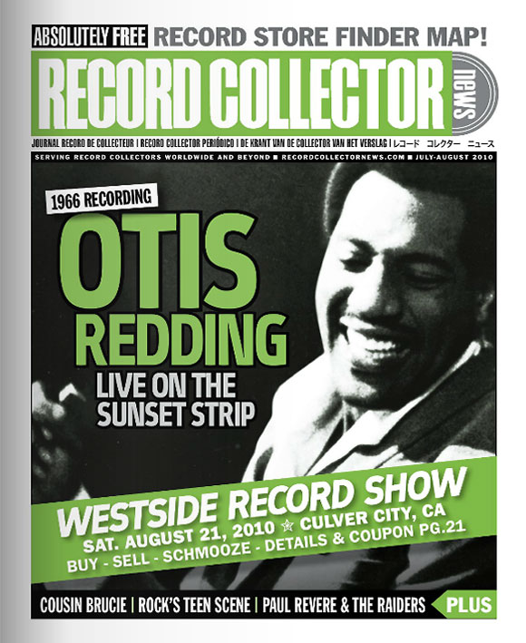 Otis Redding Record Collector News July cover