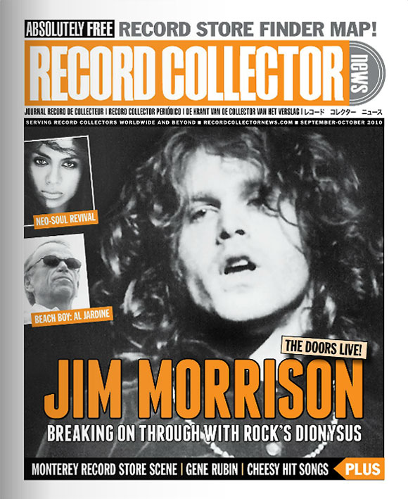 Jim Morrison Record Collector News September cover