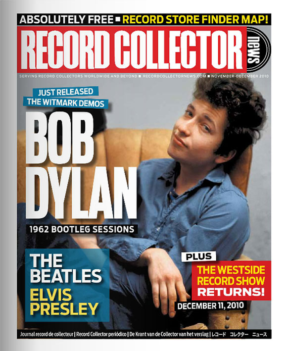 Bob Dylan Record Collector News November cover