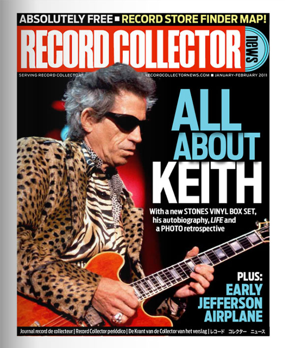 Keith Richards Record Collector News January cover