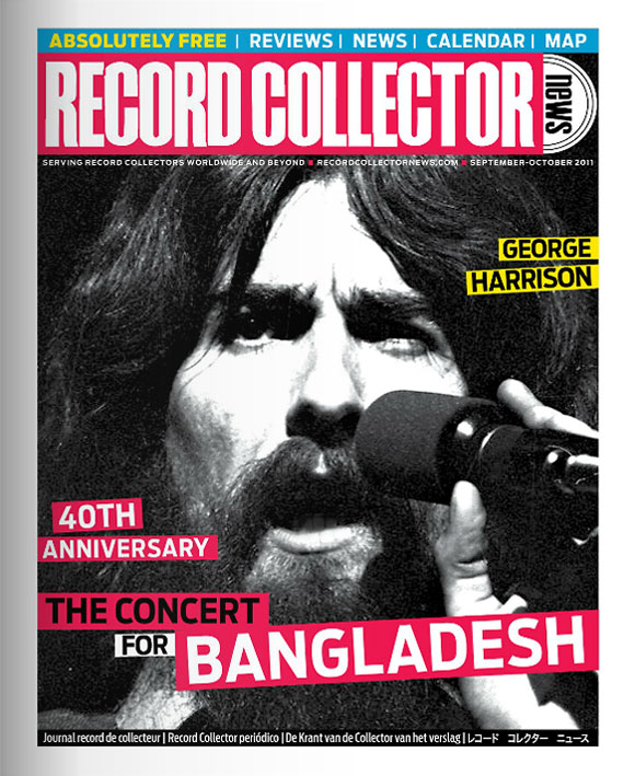 George Harrison Record Collector News September cover