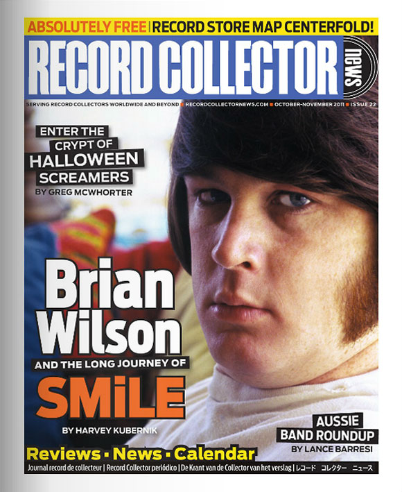 Brian Wilson Record Collector News October cover