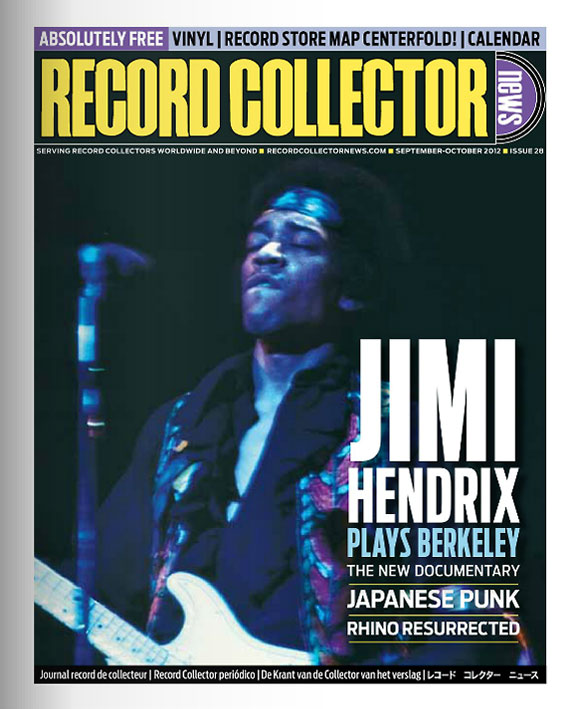 Jimi Hendrix Record Collector News September 2012 cover