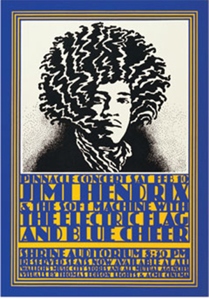 Jimi Hendrix Pinnacle Shrine Exposition Poster