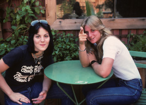 Joan Jett and Sandy West of The Runaways Los Angeles Photo by Brad Elterman