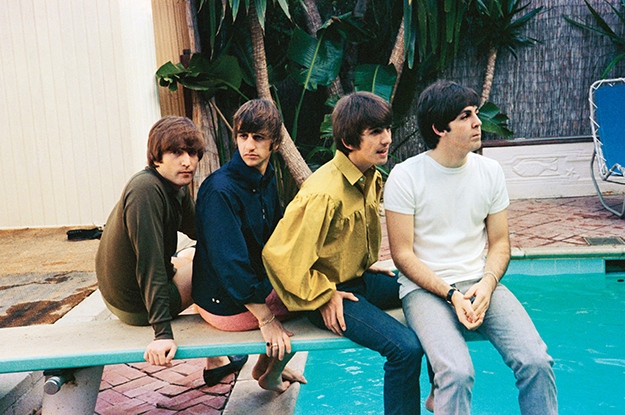 beatles-poolside