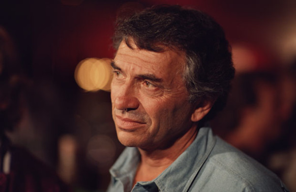 Graham between takes during the filming of A '60s Reunion with Bill Graham: A Night at the Fillmore, 1986. Photo by Ken Friedman; courtesy of Ken Friedman.