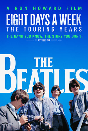 Ron Howard's Beatles documentary opens in theaters September 16 and begins streaming to subscribers on Hulu, September 17.