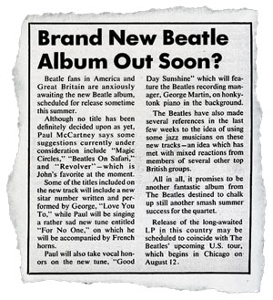 In 1966, Beatles fans wondered if the band's new album would be called Magic Circles, Beatles on Safari — or maybe Revolver.