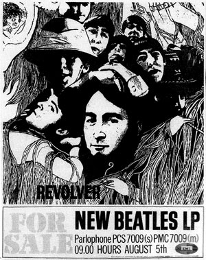 This ad for the Revolver album appeared in the U.K.