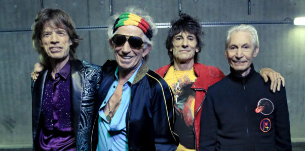 L-R: The Rolling Stones, Mick Jagger, Keith Richards, Ronnie Wood and Charlie Watts