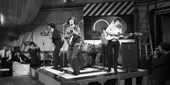 The Kinks perform on British pop music show, Ready Steady Go, October 30, 1964