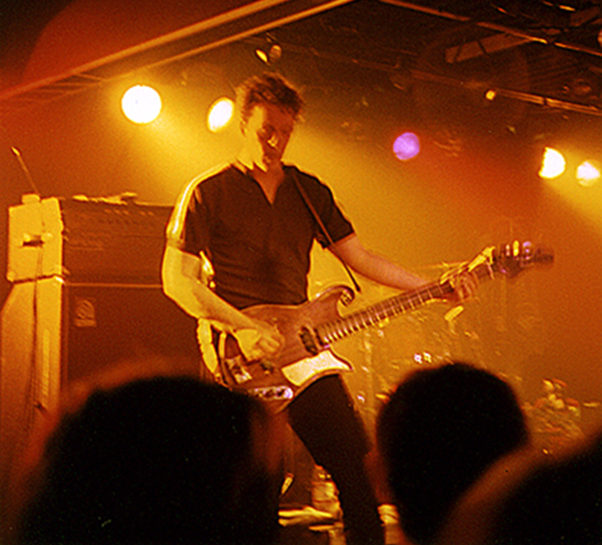 Mark Sandman from Morphine, playing at Mississippi Nights in St. Louis, MO, April, 1997