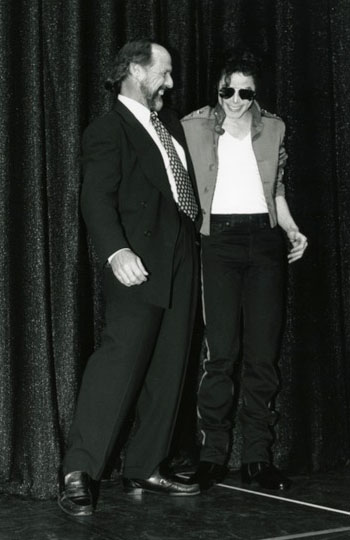 Glew with Michael Jackson