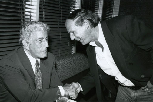 Glew with Tony Bennett at 1993 MTV Awards