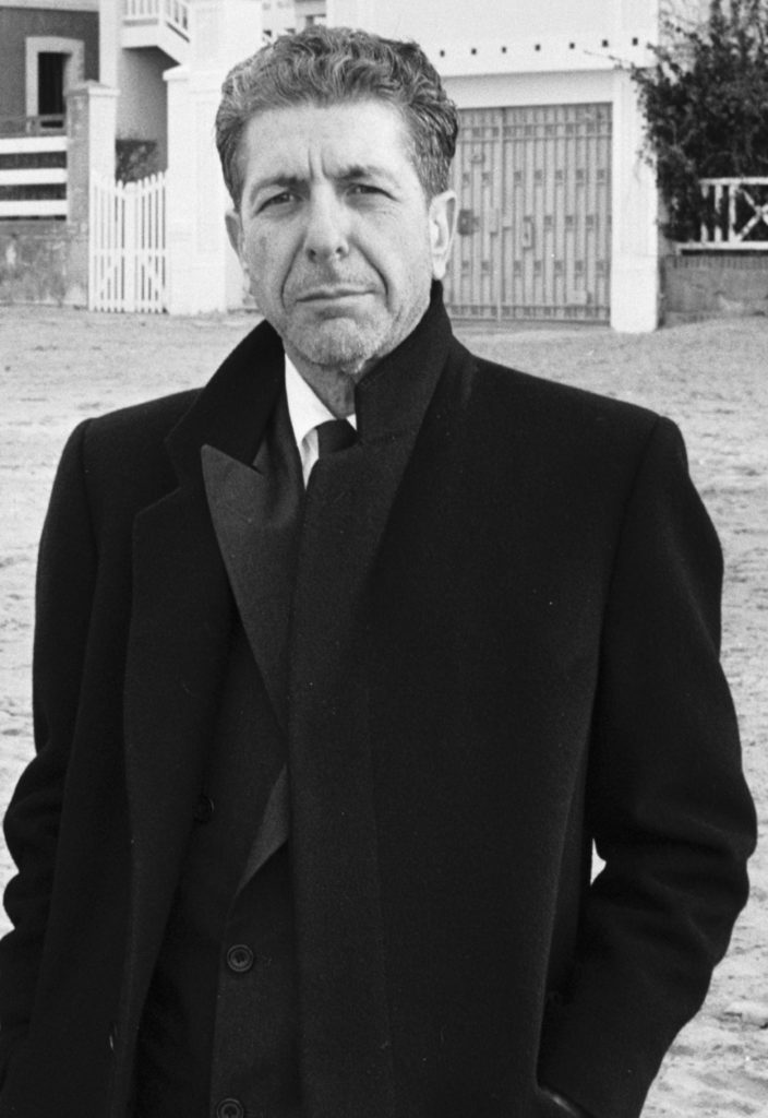 Leonard Cohen in Trouville-sur-Mer (Normandie, France) January 26, 1988 Wikimedia Commons: Oland Godefroy
