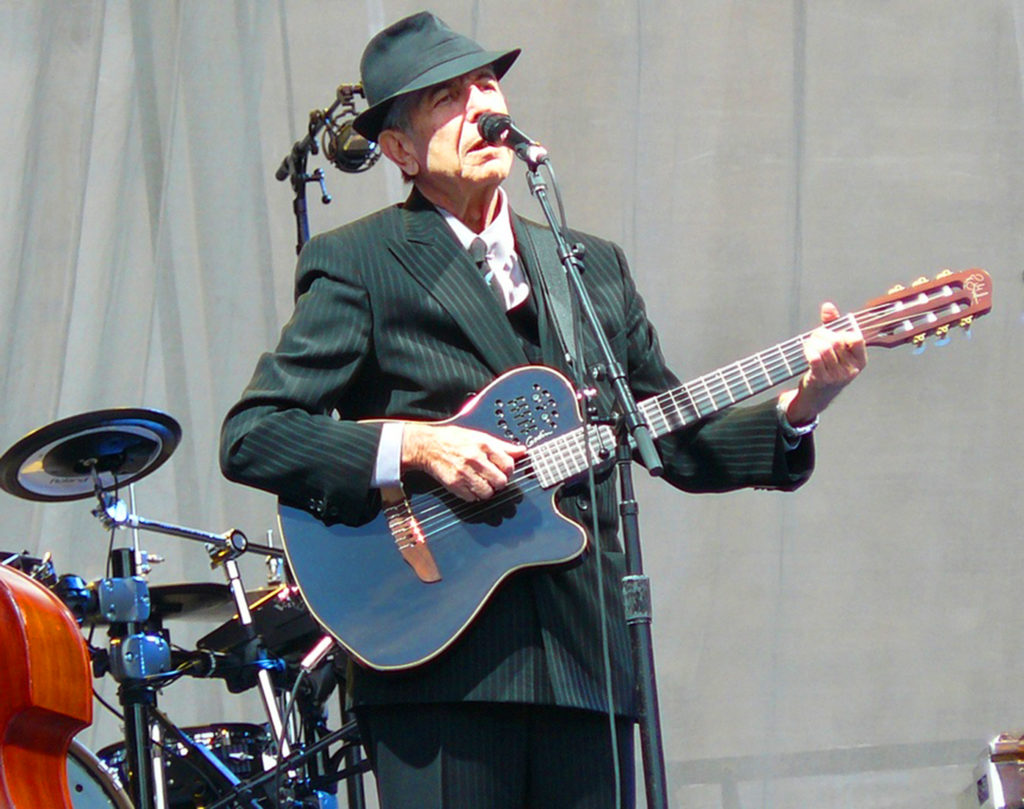 """Leonard started playing guitar at summer camp in 1950. He wasn't attracted to the instrument so much for a musical reason. He used it as a courting tool. But he also thought one day he'd become a singer. He used to stand and sing in front of the mirror to see how he looked.""  Wikimedia Commons: Jens Cederskjold"