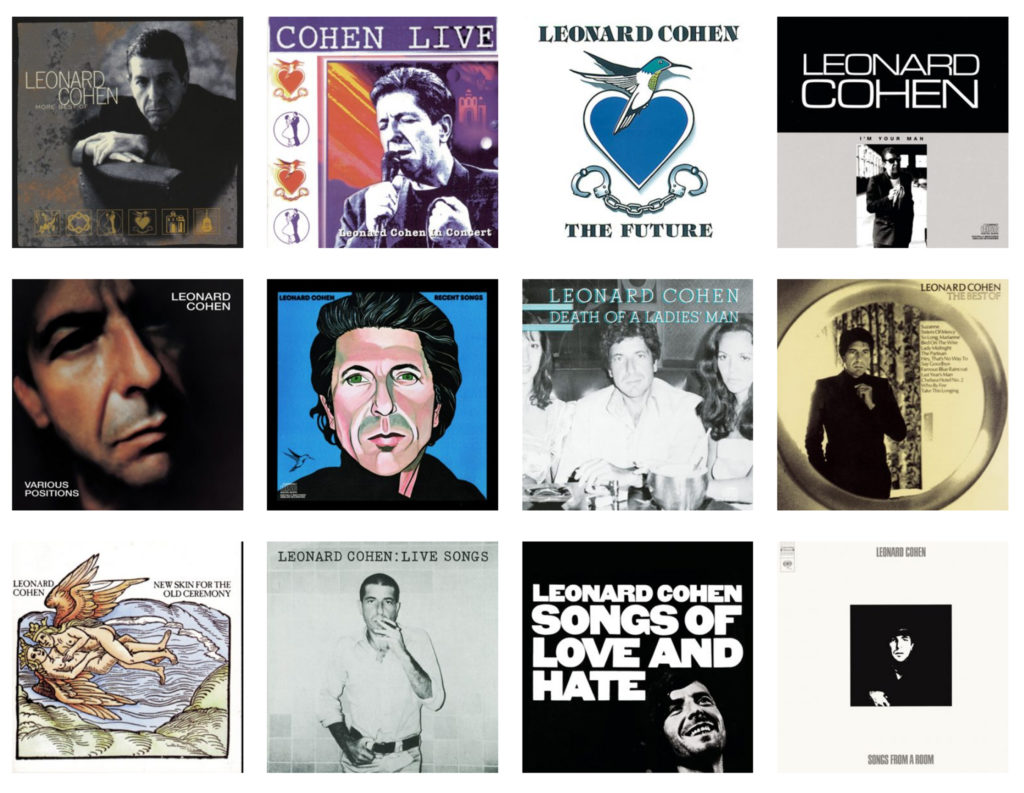 The albums of Leonard Cohen