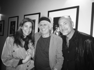 L-R, Cassandra Berns, Keith Richards and Brett Berns
