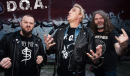 L-R, Mike Hodsall, Joe Keithley and Paddy Duddy in 2015 Lower East Side Vancouver.