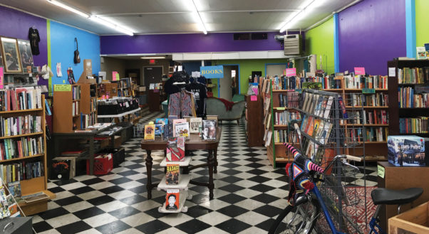 Bound for Glory is a book and vinyl store that also features a large selection of vintage rock collectables
