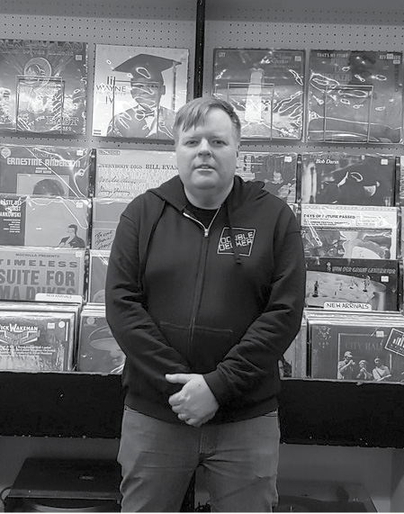 Jamie Holmes, owner of Double Decker Records