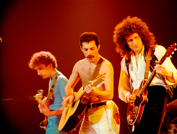 """It would be boring if everything was laid out and everybody knew what it was all about all the time."" —Freddie mercury Photographs by Neal Preston © Queen Productions Ltd."