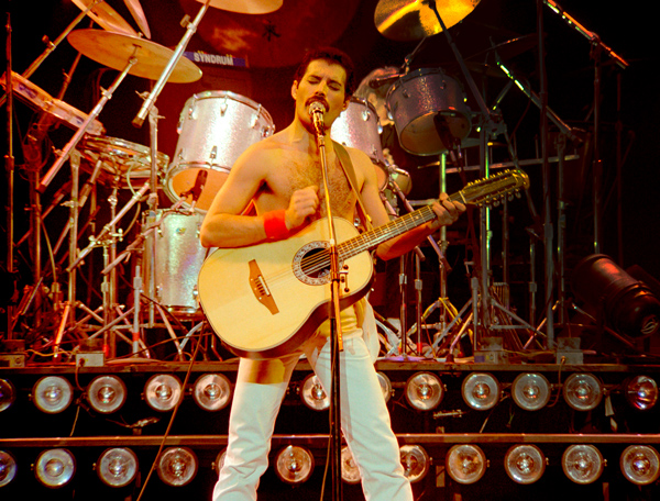 """We do rock 'n' roll, and our presentation is just a way of putting across the music."" —Freddie mercury"
