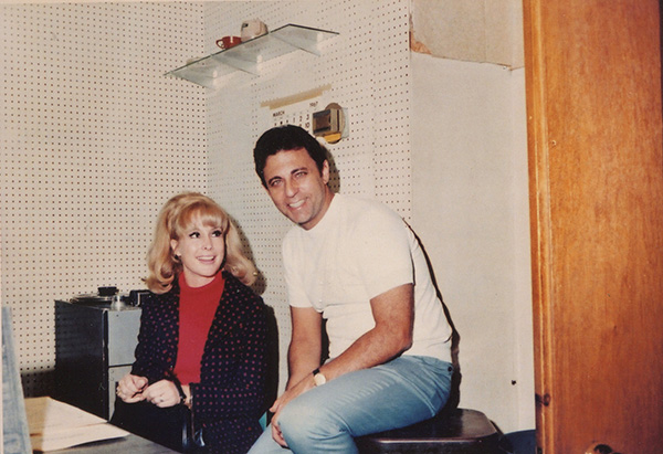 Barbara Eden and Hal Blaine at Gold Star