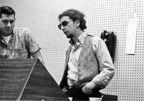 Larry Levine and Phil Spector, at Gold Star Studios. Stan Ross Archives