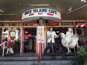 "Rock Island Cafe's website boasts ""Step back to a time when Elvis was King, Marilyn was Queen and they both drank Coca Cola."" Photo by Gillian G. Gaar"