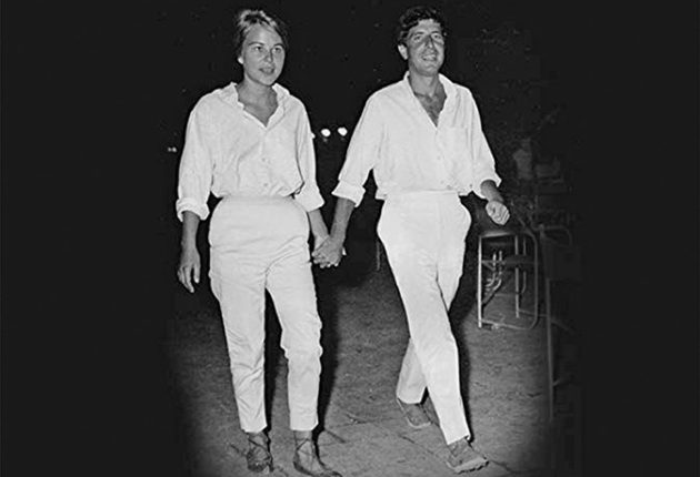 Marianne Ihlen and Leonard Cohen on the Greek island of Hydra  in the mid-1960s. MOVIE POSTER: Leonard & arianne: Words of Love