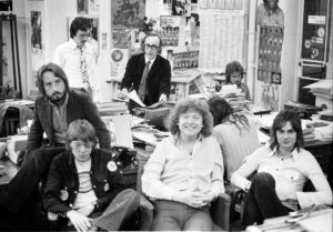 Melody Maker staff circa 1971. Photo by Barrie Wentzell.