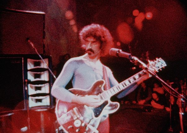 Frank Zappa performing with the Mothers of Invention in ZAPPA a Magnolia Pictures release. Copyright ROELOF KIERS. Photo courtesy of Magnolia Pictures